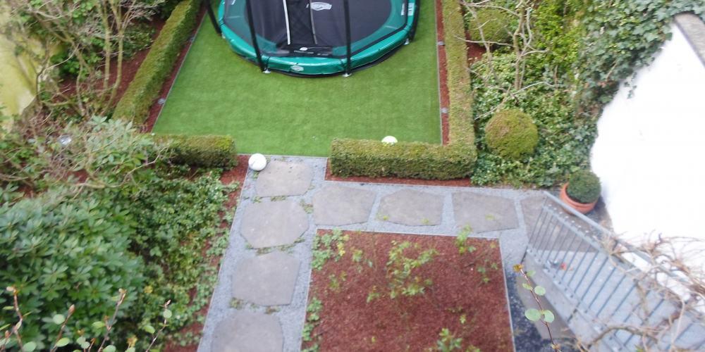 Garten hinterher