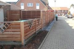 Holzsichtschutzzaun